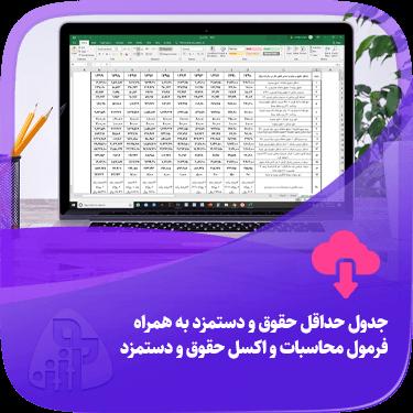 جدول حداقل حقوق و دستمزد بهمراه فرمول محاسبات و اکسل حقوق و دستمزد آموزش حسابداری حقوق دستمزد آکادمی رشد مالی